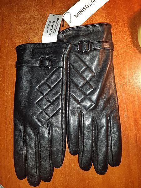 Перчатки кожаные Miniso
