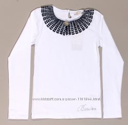 Белая блузка с кружевным воротником для девочки