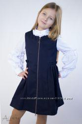 Школьный сарафан для девочки Р-р122-158 Черный Синий Albero, Cvetkov Акция