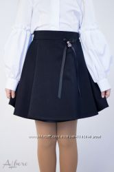 Юбка школьная детская для девочек ТМ Альберо, Цветков Пять моделей