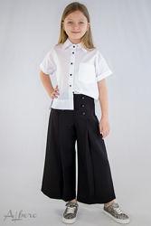 Блузка школьная с коротким рукавом Brilliant Mevis Albero Рры 116- 158