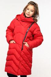 Куртка пальто пуховик детское зима Китнис Луана ТМ Nui Very Размеры 116-158