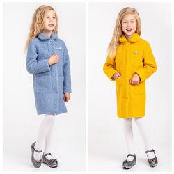 Демисезонное кашемировое пальто на девочку тм Brilliant 104-164 три модели