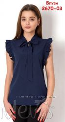 Блузка школьная, нарядная, детская, женская Mevis Размеры 146- 170