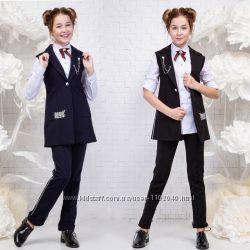 Модный школьный комплект, костюм на девочку подростка Размеры 134- 164