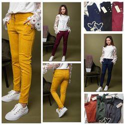 Подростковые стильные штаны замш, брюки карго для девочек Размеры 122- 164