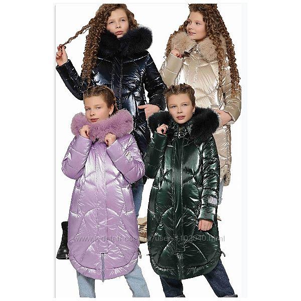 Модная зимняя куртка для девочки 8302 X-Woyz для девочек размеры 110-128
