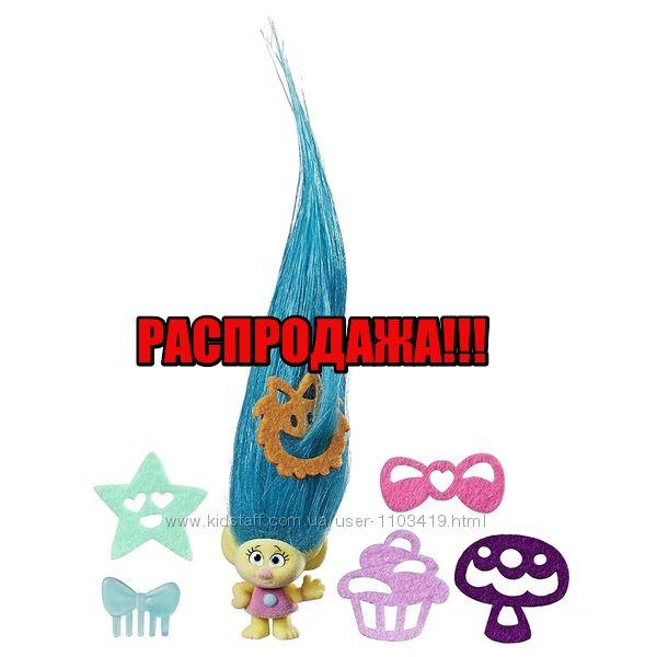 Коллекционная крошечная фигурка Тролли - Смидж DreamWorks Trolls Hair Raisi