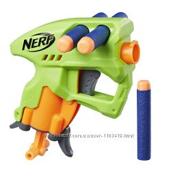 Nerf Бластер Нерф Нанофайр зеленый E0708 N-Strike NanoFire green пистолет