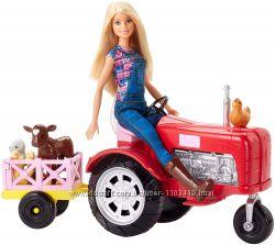 Кукла Барби Фермер и трактор Barbie and Tractor Mattel FRM18 оригинал