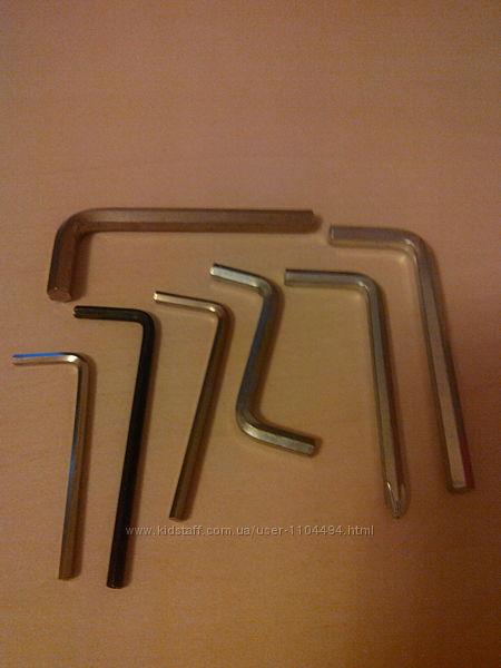 Ключи 6-гранные 1, 5-10 мм. набор 7 шт