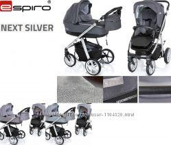 Универсальная коляска 2 в 1 Espiro Next Silver, 2019