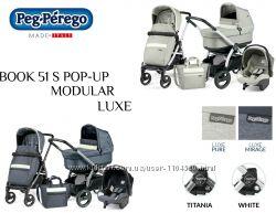 Универсальная коляска 3в1 Peg-Perego Book 51 S Pop-Up Modular, 2019