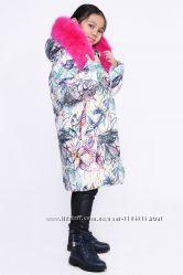 Зимняя очень теплая куртка пальто с капюшоном р. 110 по 158см