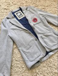 Пиджак мужской кэжуал под джинсы серый