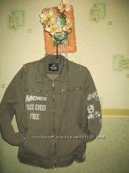Джинсовая стильная куртка , цвет хаки.