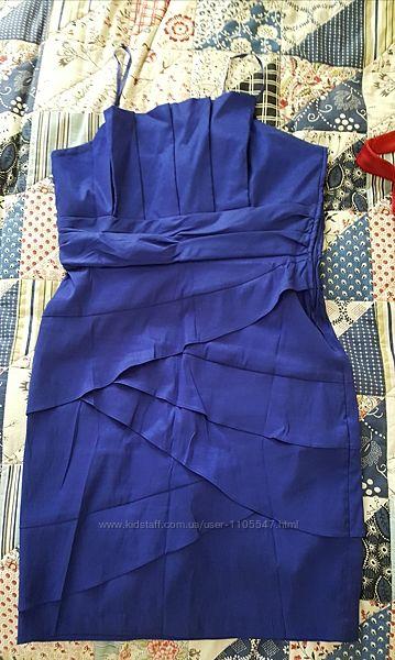 платье синее, сукня вечірня