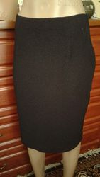 Tcm Tchibo черная офисная юбка миди, юбка- карандаш  46-48р