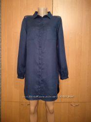 Бомбезное льняное платье-рубашка лён Пог 51 см