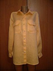 Отличная льняная рубашка лен и хлопок Пог 53 см