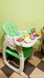 Бемби 3612 трансформер 2 в 1 стульчик для кормления столик Bambi