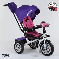 Бест трайк 9288 велосипед трехколесный детский с ручкой best trike