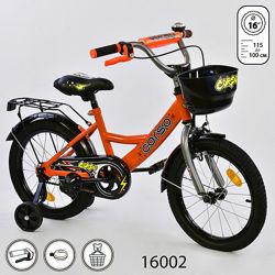 Корсо 16 дюймов велосипед детский двухколесный corso