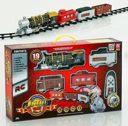 Железная дорога, паровоз на ру, свет, звук 3054