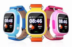 Детские умные смарт часы дитячий годинник Q90 Q100 Smart Baby Watch с GPS