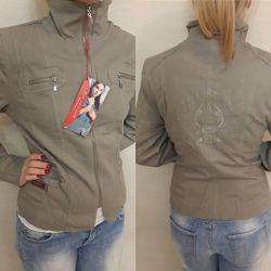 Куртка ветровка на подкладке р. S - XXL, 4 цвета