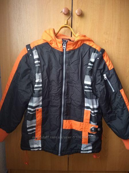 Яркая демисезонная куртка 2 в 1