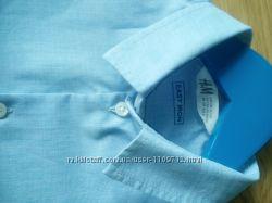 Рубашка H&M голубая рост 128