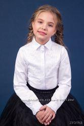 Классическая школьная блузка с длинным рукавом ТМ Зиронька 26-9039