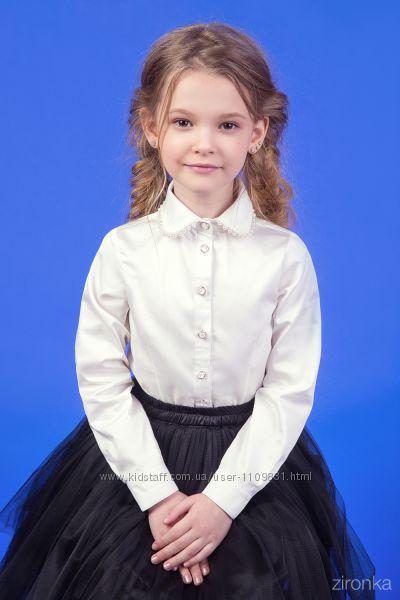 Школьная блузка с длинным рукавом ТМ Зиронька 26-9037