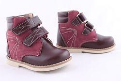 Ортопедические демисезонные ботинки ТМ Берегиня для девочки р-р 18-26