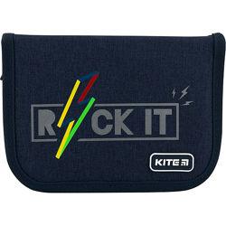 Пенал с наполнением Kite Rock it K20-622H-10, 1 отделение, 2 отворота