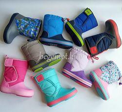 Оригинальные детские сапоги Crocs Kids Crocband LodgePoint Boot Зима