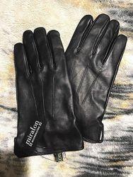 Перчатки мужские кожаные НОВЫЕ Miraton чёрные