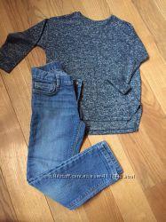 Кардиган Zara   джинсы Old Navy 110-116