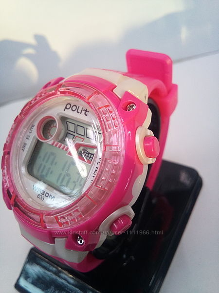 Дитячий, жіночий вологозахищений електронний годинник polit 633