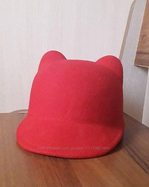 Фетровая шляпка с ушками