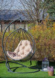 Качель кресло кокон подвесное из ротанга