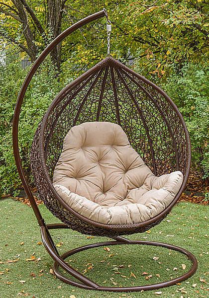 Подвесное кресло кокон качель из ротанга