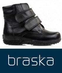 Оригинал - кожаные зимние ботинки ТМ Braska 28 и 29 размер