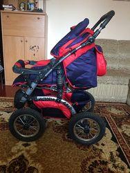 Коляска Viki зима-лето 2 в 1 надувные колеса