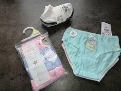 F&F, Reserved. Трусики, носочки для девочки. Наборы