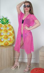 Женская туника сетка для пляжа M-XL