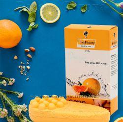 Мыло Антиакне для жирной кожи с маслом Чайного дерева, Апельсиновым маслом