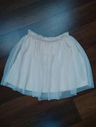 Брендовая юбка mango цвет пудра.