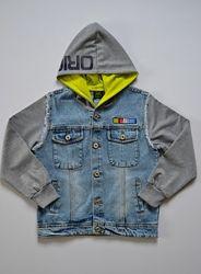 Джинсовый пиджак для мальчика, р.122-158, разные